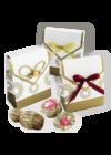 2 db virágzó tea arany dobozkában