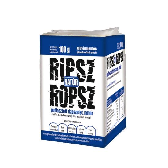 Ripsz Ropsz puffasztott rizsszelet natúr 100g*15 csomag
