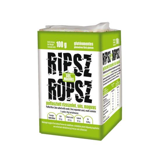Ripsz Ropsz puffasztott rizsszelet sós, magvas 100g*15 csomag