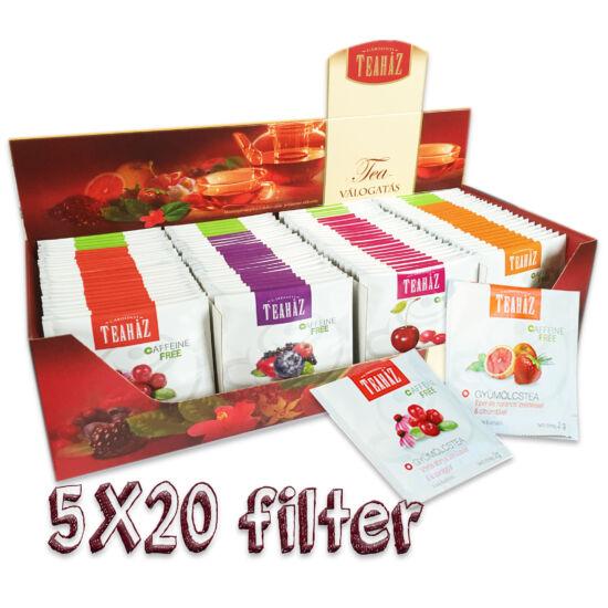 Gyümölcstea válogatás 5*20 filter*8db