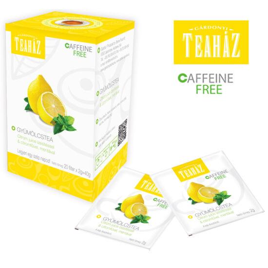 Gyümölcstea  citrom Juice ízesítéssel és citromfűvel, mentával 40g*10db