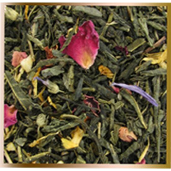 """""""Keleti virágok"""" ízesített , szálas zöld tea"""