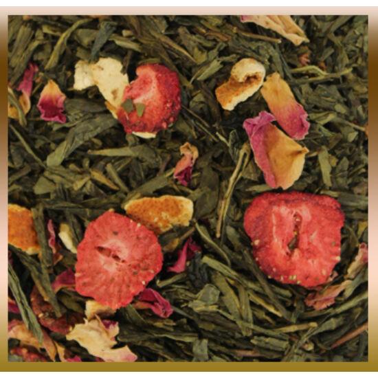 Eper-narancs zöld tea