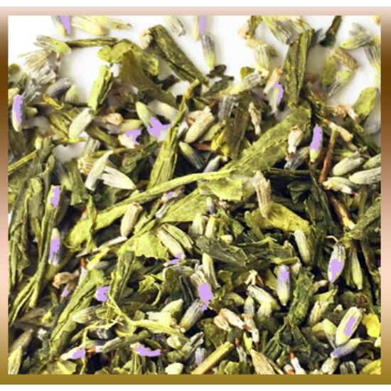Levendula és zöld sencha tea