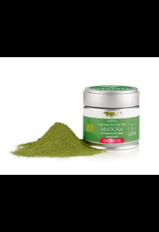 Matcha tea eper ízesítéssel fémdobozban