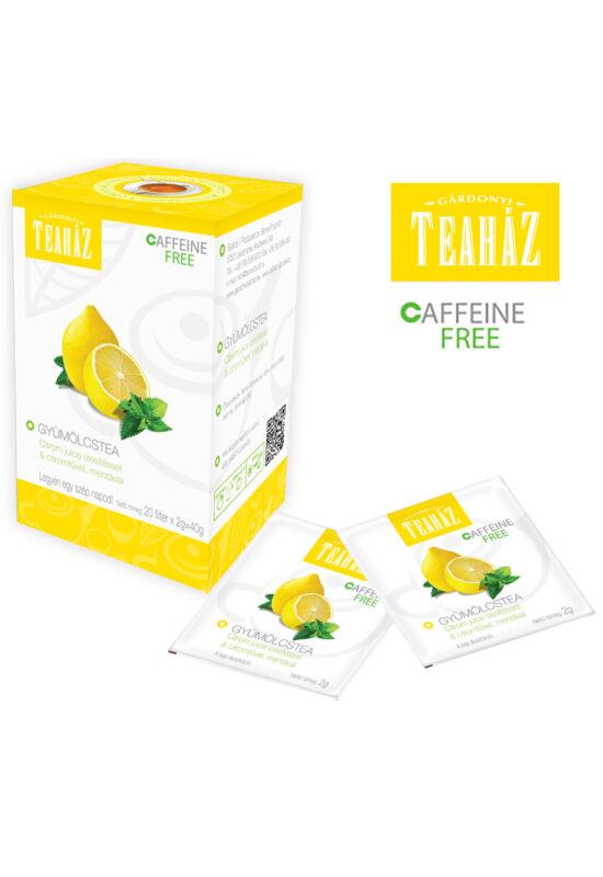 Gyümölcstea  citrom Juice ízesítéssel, citromfűvel, mentával