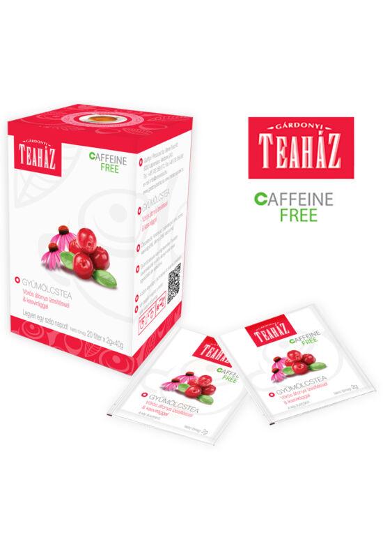 Gárdonyi Teaház gyümölcstea vörös áfonya ízesítéssel és kasvirággal 40g*10db