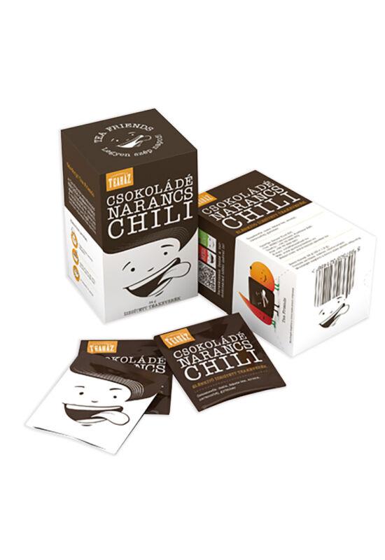 Csokoládé, narancs, chili ízesítet, filterezett teakeverék 24g*10db