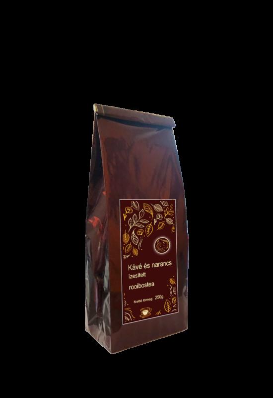 kávé és narancs ízesítésű rooibostea 250g