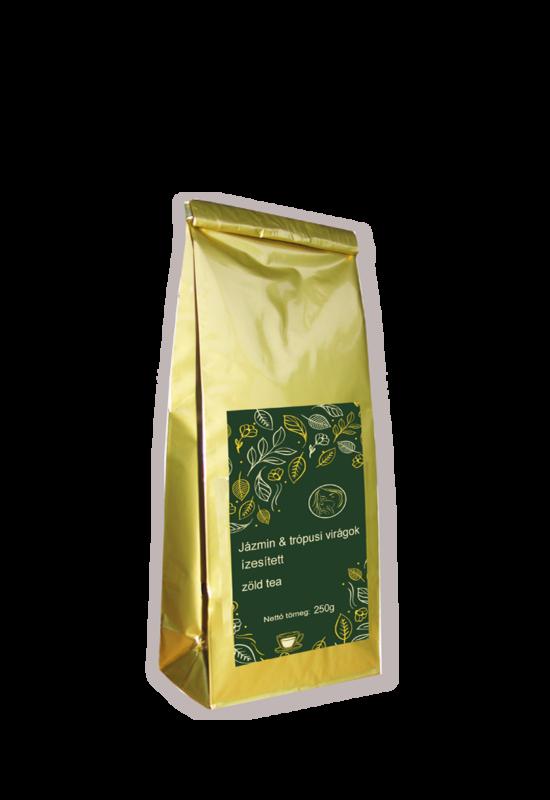 Jázmin és keleti virágok ízesített zöld tea 250g