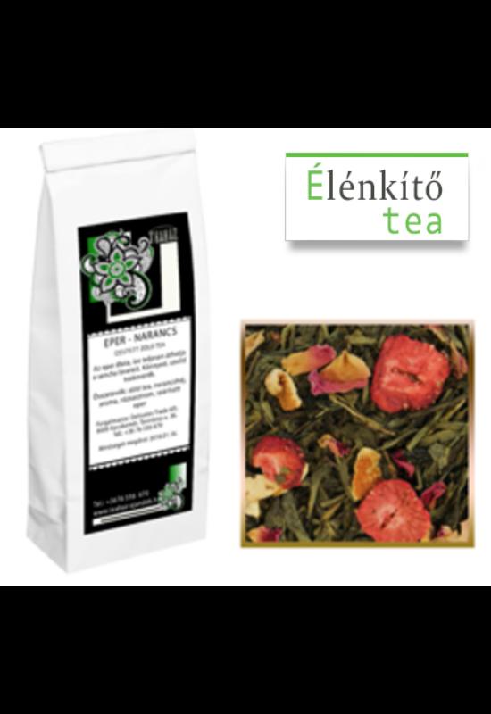 Epres és narancsos ízesítésű szálas zöld tea