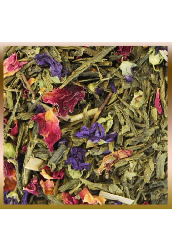 Kaktuszgyümölcs ízesítésű szálas zöld tea