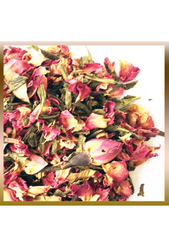 Rózsa szirom zöld teával